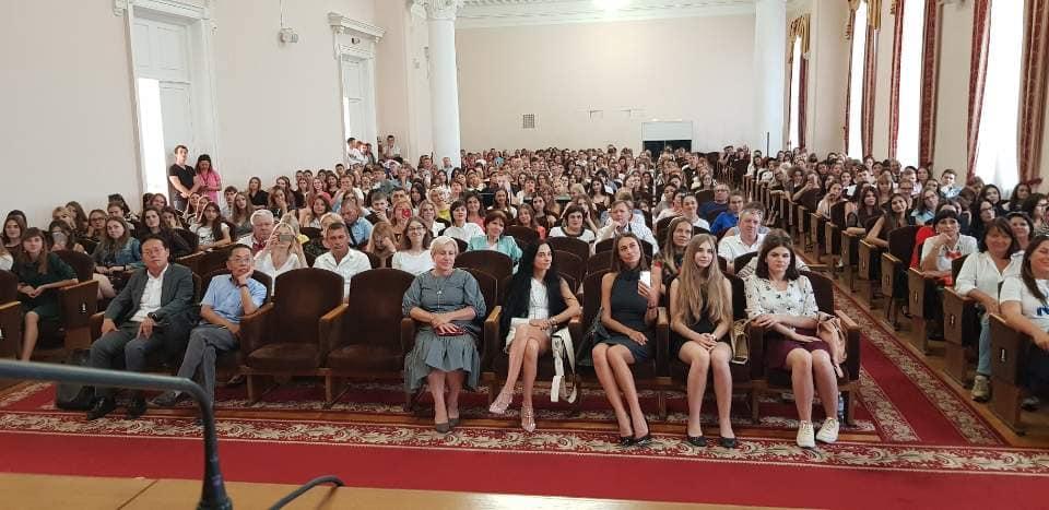 키예프국립대학교 신입생 입학식 참석