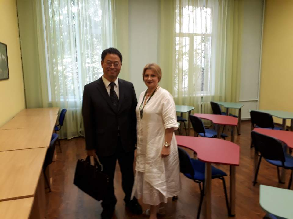 키예프 국립 드라고로마노바 사범대학교 방문