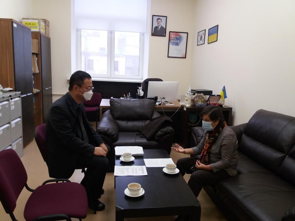 우크라이나 교육과학부 코발렌코 국장 한국교육원 방문