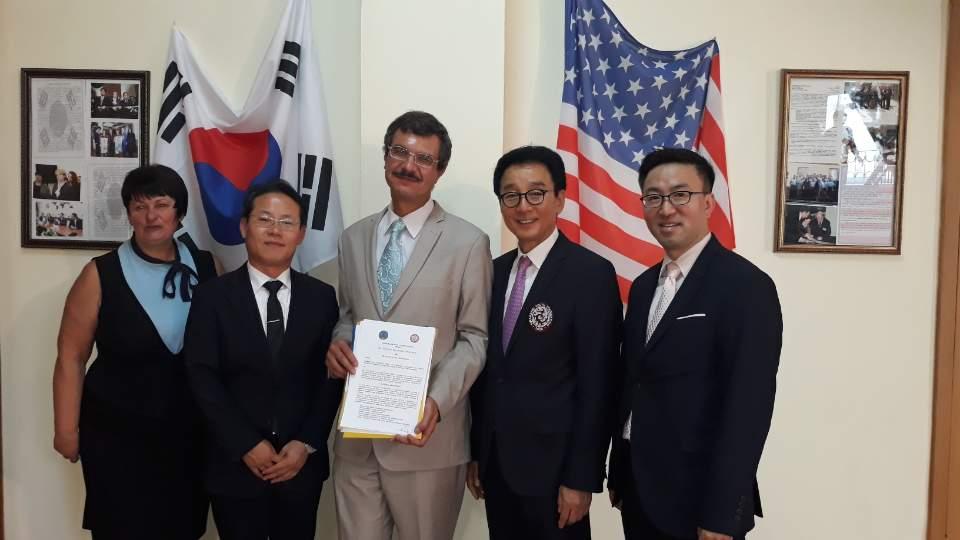 우크라이나국립세무종합대학교 한국어과 개설 및 신입생 입학식 참석