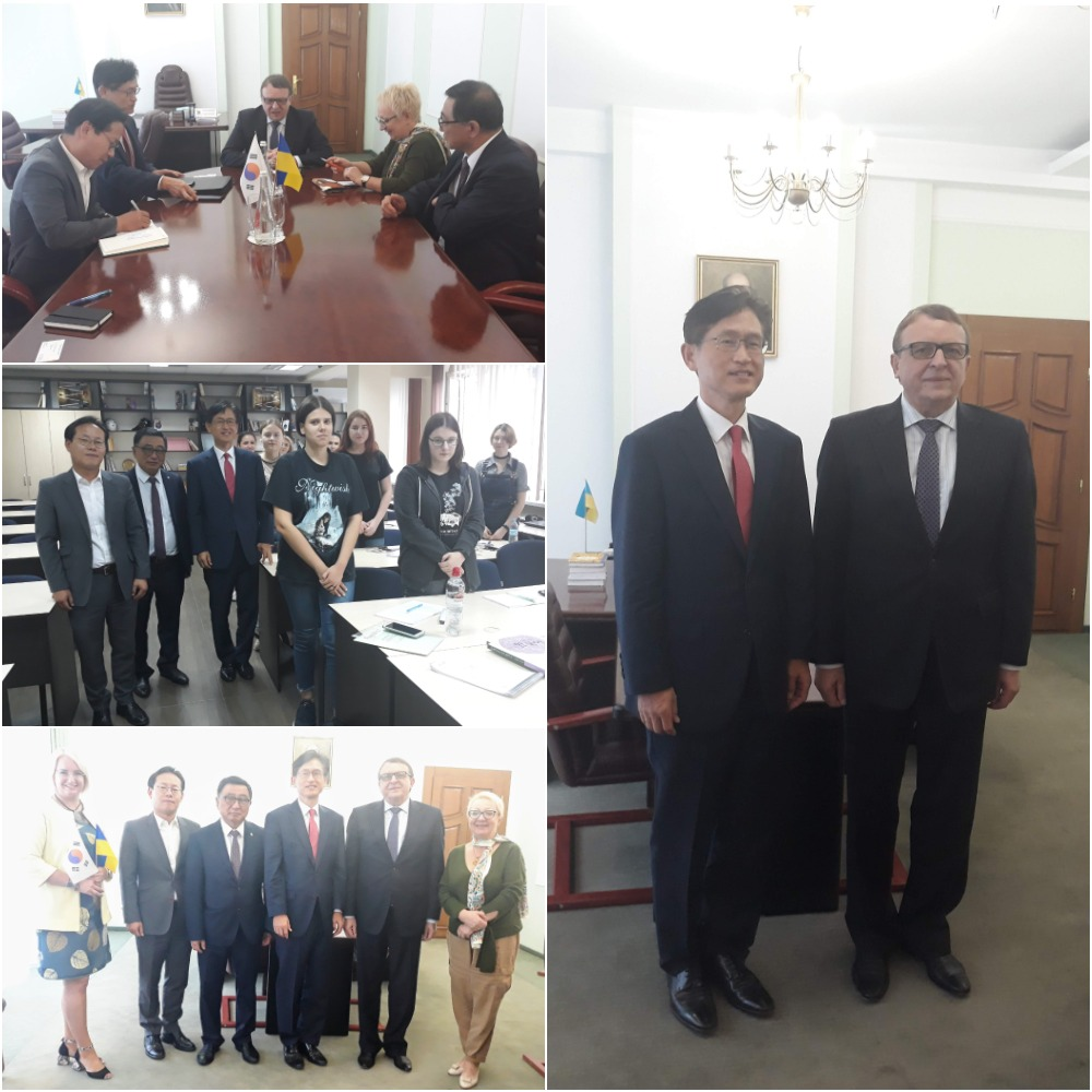 키예프국립외국어대학교 총장 면담